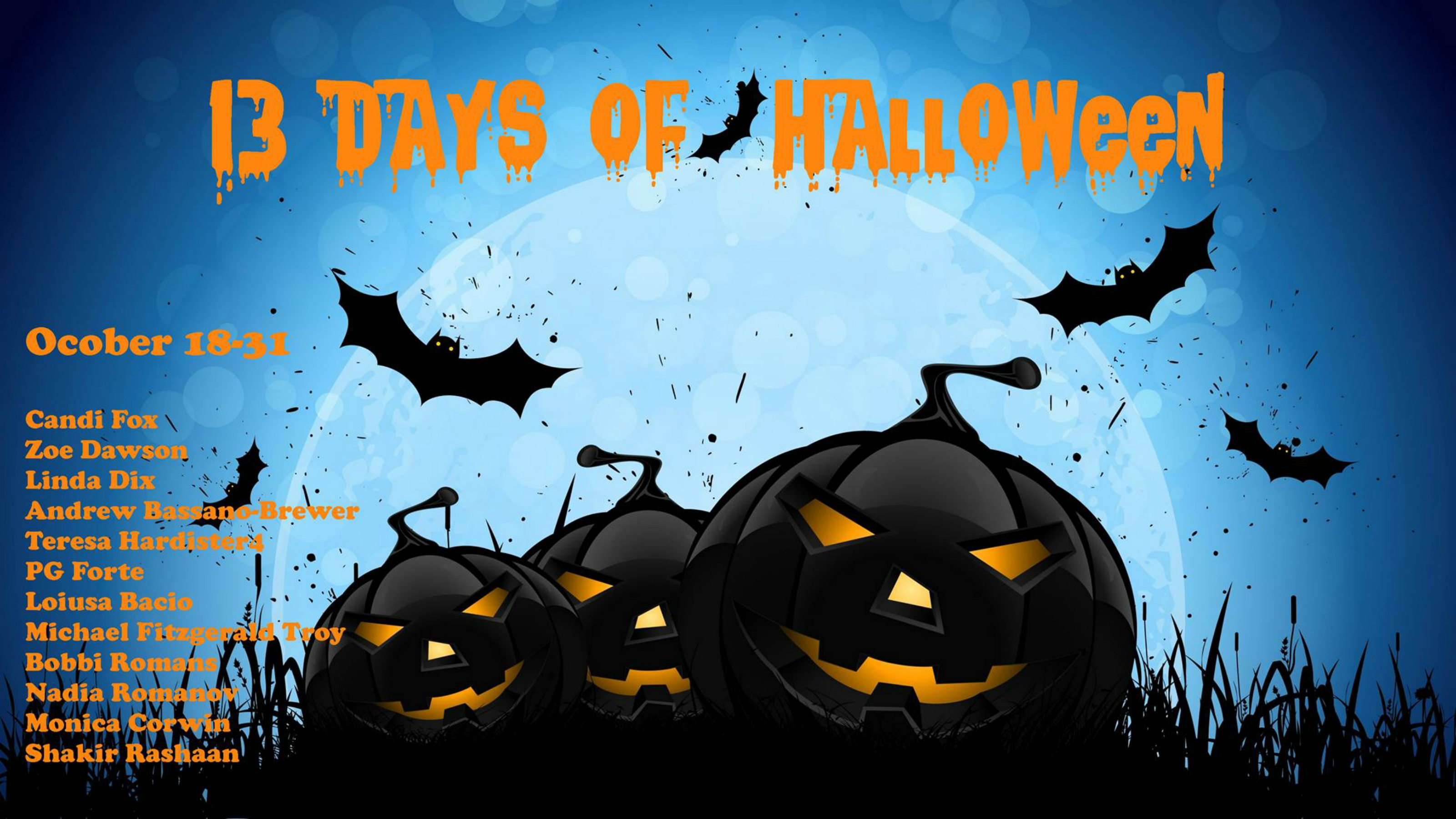 13 days of halloween! - zoe dawson
